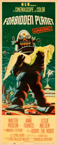 Movie Posters:Science Fiction, Forbidden Planet (MGM, 1956). Folded, Fine+. Inser...