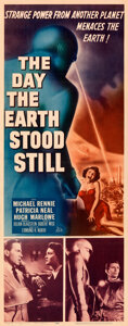 """Movie Posters:Science Fiction, The Day the Earth Stood Still (20th Century Fox, 1951). Folded, Very Fine-. Insert (14"""" X 36"""").. ..."""