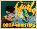 """Movie Posters:Drama, Queen Christina (MGM, 1933). Very Good/Fine on Paper. Half Sheet (22"""" X 28"""").. ..."""