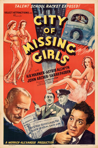 """City of Missing Girls (Select Attractions, 1941). Folded, Very Fine-. One Sheet (27"""" X 41"""")"""