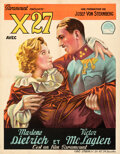 """Movie Posters:Drama, Dishonored (Paramount, 1931). Fine+ on Linen. Trimmed Pre-War Belgian (24.5"""" X 31.5"""").. ..."""