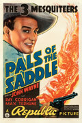 Movie Posters:Western, Pals of the Saddle (Republic, 1938). Fine/Very Fine on Lin...