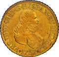 Colombia: Ferdinand VI gold 8 Escudos 1757 NR-J AU Details (Cleaned) NGC