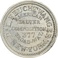 Hard Times Tokens, (1831-36) New York, New York, Dr. L. Feuchtwanger, Low-247, HT-260, W-NY-480-50j PE, R.7--Scratches--NGC Details. Unc. Germa...