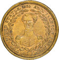 1833 Andrew Jackson, Low-5A, HT-8, W-09-45b RE, R.6, MS61 NGC. Brass, reeded edge