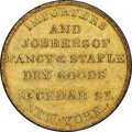 (1850s) New York, New York, Loder & Co., M. NY-466A MS65 NGC. Brass, reeded edge. Ex: Donald G. Partrick