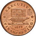 1837 Illustrious Predecessor, Low-20, HT-34, W-11-540a, R.1, MS66 Red and Brown NGC. Copper, plain edge