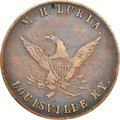 Undated Louisville, Kentucky, M.H. Luria, M. KY-23A--Obverse Scratched--NGC Details. VF. Copper, plain edge. Ex: Donald...