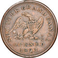(1825-26) New York, New York, Tredwell, Kissam & Co., R. E-NY-921A, R.5, AU55 NGC. Copper, reeded edge. Ex: Donald G...