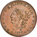 1837 Liberty-Not One Cent, Low-30, HT-45, W-11-110a, R.2, MS62 Brown NGC. Copper, plain edge