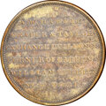 Early American Tokens, (1826-27) New York, New York, A.W. Hardie, R. E-NY-295A, R.8, AU58 NGC. Brass, plain edge.. Ex: Donald G. Partrick....