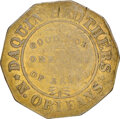(1835-42) New Orleans, Louisiana, Daquin Bros., Low-237, HT-116, W-LA-020-20b, R.6--Obverse Scratched--NGC Details. VF...
