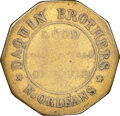 (1835-42) New Orleans, Louisiana, Daquin Bros., Low-236, HT-115, W-LA-020-10b, R.7, VG10 NGC. Brass, plain edge. Ex: Don...