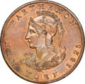 Early American Tokens, 1825 New York, New York, Peale's Museum, R. E-NY-632, MS64 Brown NGC. Copper, plain edge.. Ex: Donald G. Partrick....