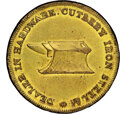 (1820s) New York, New York, WM. H. Mott, R. E-NY-615, R.6--Bent--NGC Details. Unc. Brass, plain edge. Ex: Donald G. Part...