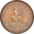 Hard Times Tokens, 1838 Am I Not a Woman & a Sister, Low-54, HT-81, W-11-720a, R.1, MS62 Brown NGC. Copper, plain edge....