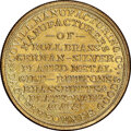 (1855) New York, New York, Scovill Manufacturing Co., M. NY-803 MS67 NGC. Brass, reeded edge. Ex: Donald G. Partrick