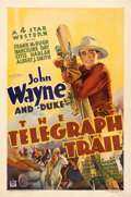 """Movie Posters:Western, The Telegraph Trail (Warner Bros., 1933). Fine/Very Fine on Linen. One Sheet (27"""" X 41"""").. ..."""