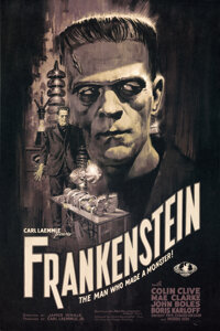 """Frankenstein (Bottleneck, 2020). Rolled, Near Mint+. Hand Numbered Limited Edition Screen Printed Poster (24"""" X 36&..."""
