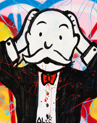 Alec Monopoly (b. 1986) Shocked, early 21st century Acrylic and spray paint on canvas 20 x 16 inc