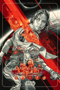 Rogue One: A Star Wars Story (Mondo, 2017). Rolled, Near Mint+. Hand Numbered Limited Edition Screen Printed Poster (30&...