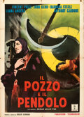 "Movie Posters:Horror, The Pit and the Pendulum (Filmar, 1961). Folded, Fine/Very Fine. Italian 2 - Fogli (39.25"" X 55"") Enzo Nistri Artwork..."