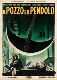 "The Pit and the Pendulum (Globe Films International, 1961). Folded, Very Fine-. Italian 4 - Fogli (55"" X 77"")..."