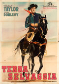 Movie Posters:Western, Billy the Kid (MGM, 1951). Folded, Fine. First Pos...