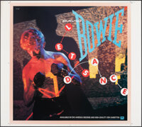 """Let's Dance by David Bowie (EMI America, 1983). Rolled, Very Fine. Printer's Proof Album Poster (38"""" X 42""""). R..."""