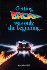 """Back to the Future Part II (Universal, 1989). Rolled, Very Fine. One Sheet (27"""" X 39.75"""") SS Advance, Style B..."""