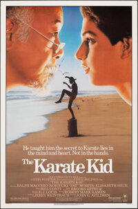 """The Karate Kid (Columbia, 1984). Rolled, Very Fine+. One Sheet (27"""" X 41""""). Sports"""