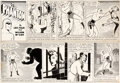 Original Comic Art:Comic Strip Art, Wilson McCoy The Phantom Sunday Comic Strip Original Art dated 11-27-49 (King Features, 1949)....