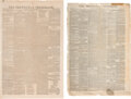 Miscellaneous:Newspaper, Group of Texas Newspapers: Frank Leslie's Illustrated Newspaper and The Tri-Weekly Telegraph. ...