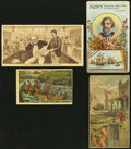 A Selection of Four Lithographed Trade Cards ca. 1870-1892 Fine or Better. ... (Total: 4 items)