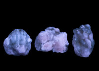 Fluorescent Calcite (Set of 3) Terlingua Mining District Texas, USA 3.57 x 2.56 x 2.00 inches (9.07 x 6.51 x 5.... (Tota...