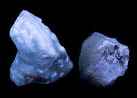 Fluorescent Calcite (Set of 2) Terlingua Mining District Texas, USA 3.74 x 3.00 x 2.56 inches ( 9.49 x 7.63 x 6... (Tota...