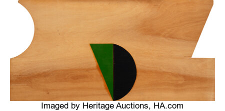 Gary Stephan (American, 1942) Untitled and Untitled (two works), 1973 Paint on plywood 48 x 96 inches (121.9 x 243.8 ... (Total: 2 Items)