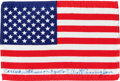 Explorers:Space Exploration, Apollo 7 Flown American Flag Originally from the Personal ...
