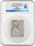 Explorers:Space Exploration, 1971 Abraham Lincoln by Victor D. Brenner Silver Plaque MS...