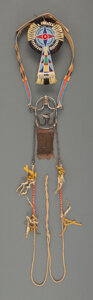 American Indian Art:Beadwork and Quillwork, A Crow Beaded Hide Headstall / Bridle... (Total: 3 )