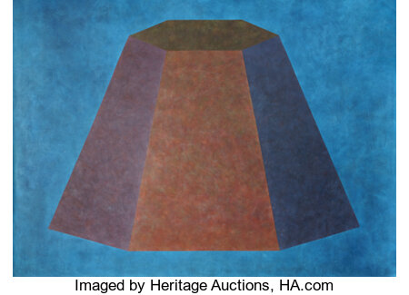 Sol LeWitt (1928-2007) Wall Drawing #506 (flat topped pyramid with color ink washes superimposed), first executed 1986...