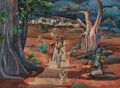 Paintings, Millard Sheets, (American, 1907-1989). Road to Bandiagara, Africa, 1979. Watercolor, gouache, and ink on paper. 22 x 29....