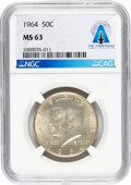 Explorers:Space Exploration, Neil Armstrong Coin Collection: 1964 50¢ MS63 NGC Kennedy...