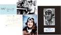 Explorers:Space Exploration, World War II Flying Aces: Collection of Three Signatures i...