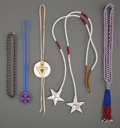 American Indian Art:Beadwork and Quillwork, Five Plains / Plateau Necklaces... (Total: 5 )