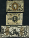 Fractional Currency:Second Issue, Fr. 1232SP 5¢ Second Issue Narrow Margin Face Extremely Fine;. Fr. 1236SP 5¢ Second Issue Narrow Margin Face Extremely Fin... (Total: 3 notes)
