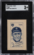 Baseball Cards:Singles (Pre-1930), 1911 S74 Turkey Red White Silks Ty Cobb SGC VG 3 - Low Total Pop....