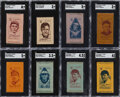 Baseball Cards:Lots, 1911 S74 Baseball & S77 Presidents (Color) Silks Collection (38). ...