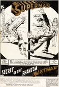 Original Comic Art:Splash Pages, Curt Swan and Murphy Anderson Superman #264 Splash Story Page 1 Original Art (DC, 1973)....
