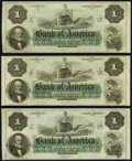 Obsoletes By State:Rhode Island, Providence, RI- Bank of America $1 18__Remainder Three Examples. Crisp Uncirculated.. ... (Total: 3 notes)